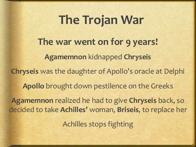 culture and mythology/The Trojan War term paper 1731