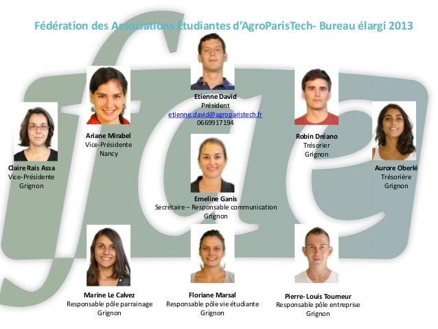 Fédération des Associations Etudiantes d'AgroParisTech- Bureau élargi 2013                                                ...