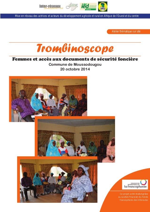 Mise en réseau des actrices et acteurs du développement agricole et rural en Afrique de l'Ouest et du centre  Atelier thém...