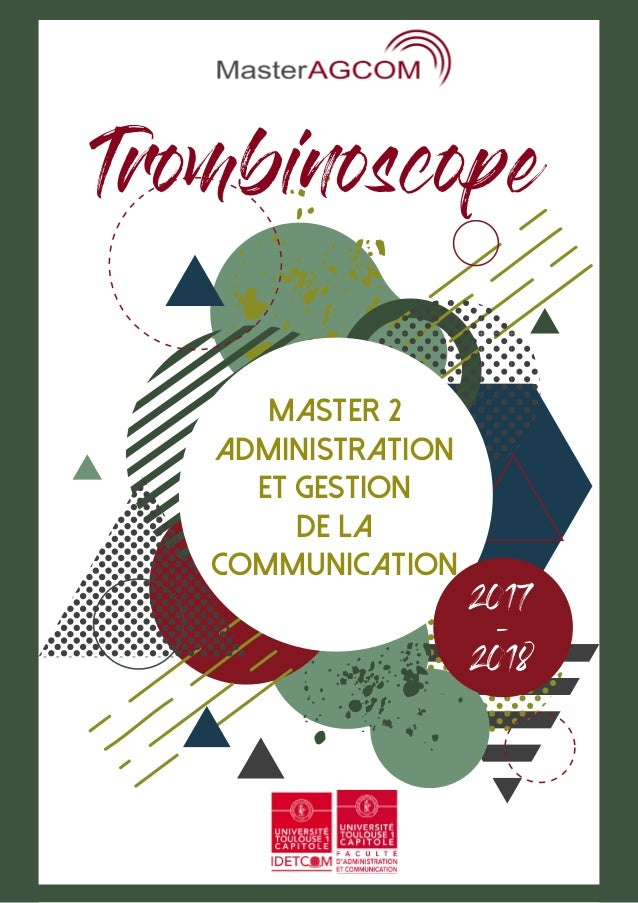 Master 2 Administration et Gestion de la Communication 2017 - 2018 Trombinoscope
