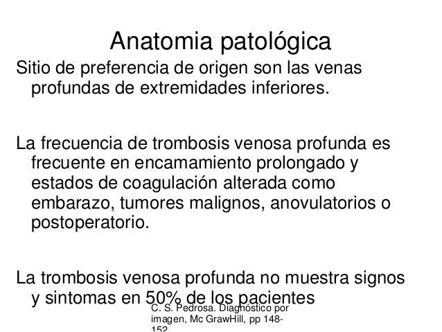 La enfermedad varicosa de las extremidades inferiores de las venas profundas