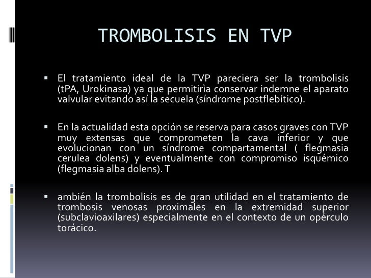 Las enfermedades de las venas la tromboflebitis