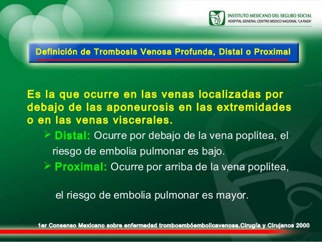 La tromboflebitis la profiláctica el tratamiento