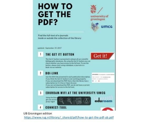 How to get the pdf? : with ór without the help of your library
