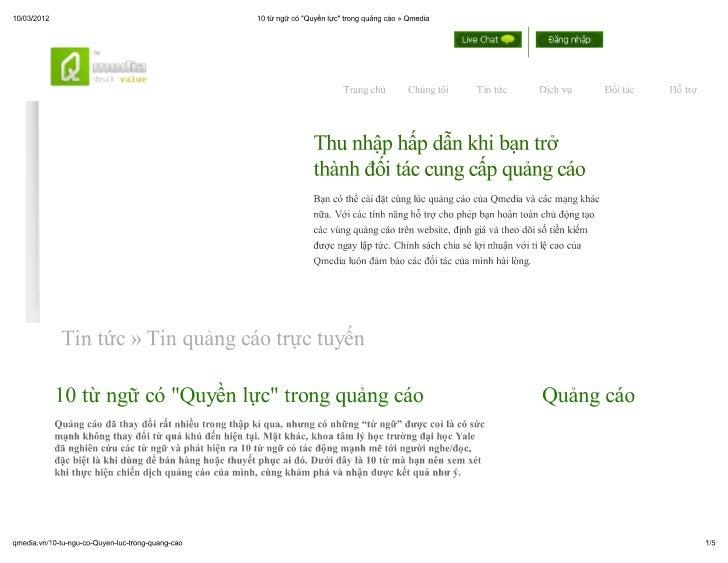 """10 từ có """"Quyền lực"""" trong quảng cáo » qmedia"""