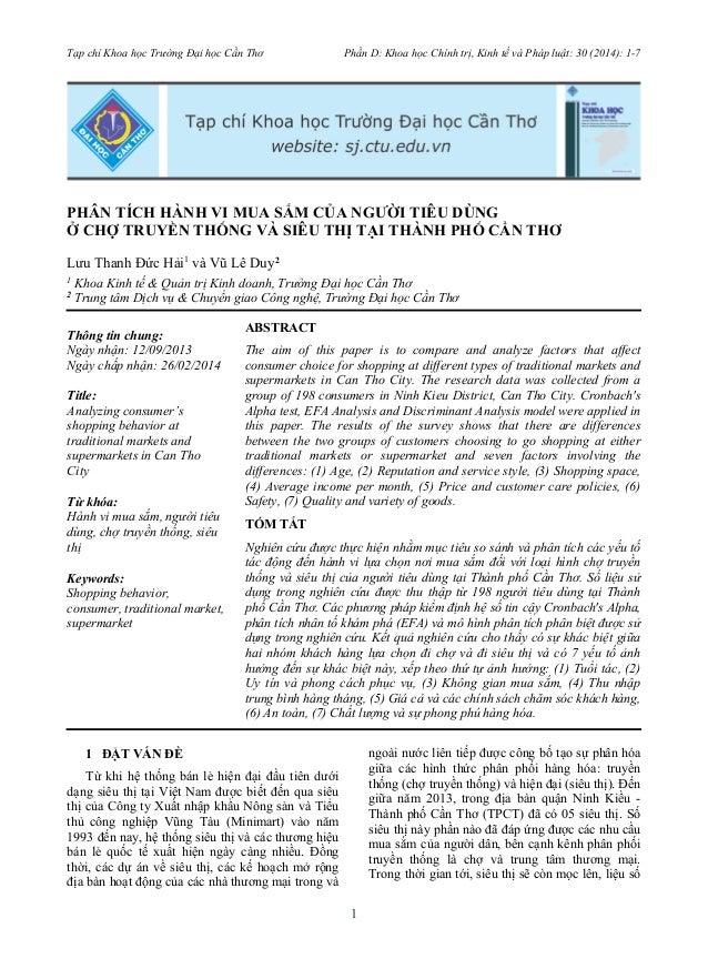 Tạp chí Khoa học Trường Đại học Cần Thơ Phần D: Khoa học Chính trị, Kinh tế và Pháp luật: 30 (2014): 1-7  PHÂN TÍCH HÀNH V...