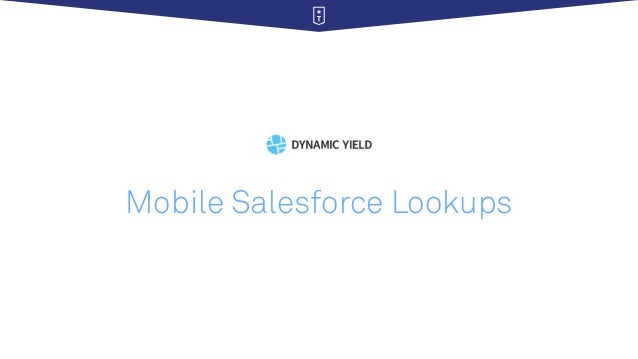 Mobile Salesforce Lookups