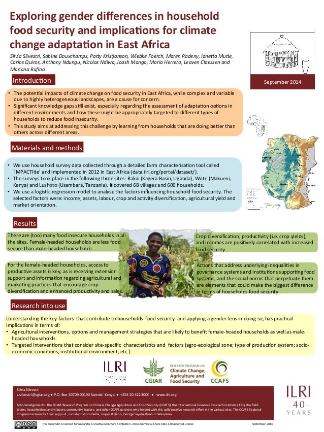 Exploring  gender  differences  in  household  food  security  and  implica7ons  for  climate  change  adapta7on  in  East...