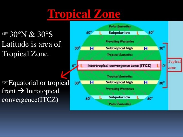 Region of ITCZ   North Introtopical  Convergence (NITC)   Region of N.E. Trade  wind (blow from N sub-tropical  HP to NI...