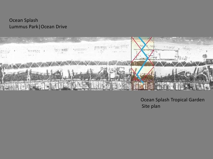Ocean Splash <br />LummusPark|Ocean Drive<br />Ocean Splash Tropical Garden<br /> Site plan<br />