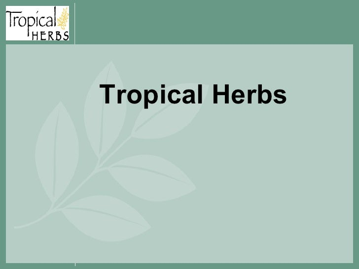 Tropical Herbs