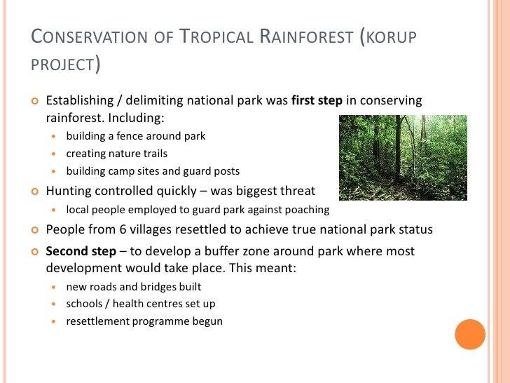 Korup national park case study