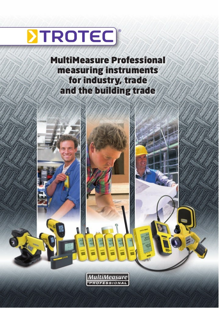 MultiMeasure Professional measuring instruments    for industry, trade and the building trade