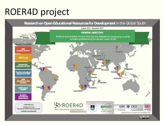 Degrees of social inclusion:  Emerging insights from the ROER4D project Slide 2