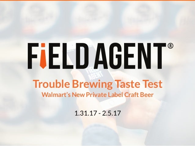Trouble Brewing Taste Test 1.31.17 - 2.5.17 Walmart's New Private Label Craft Beer