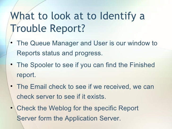 Troubleshooting Batch Reports