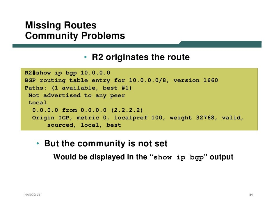 troubleshoot bgp Troubleshooting bgp neighbor establishment as number ip address multihop update-source extended ping: peering address to peering address access-lists.
