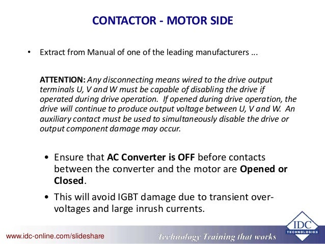 Troubleshooting Variable Speed Drives