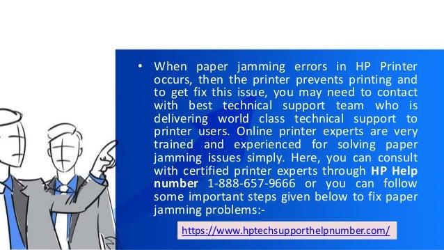 Troubleshoot paper jamming errors in hp office jet printer