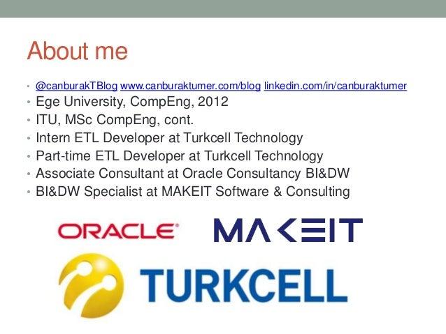 About me • @canburakTBlog www.canburaktumer.com/blog linkedin.com/in/canburaktumer • Ege University, CompEng, 2012 • ITU, ...