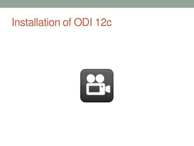 Installation of ODI 12c
