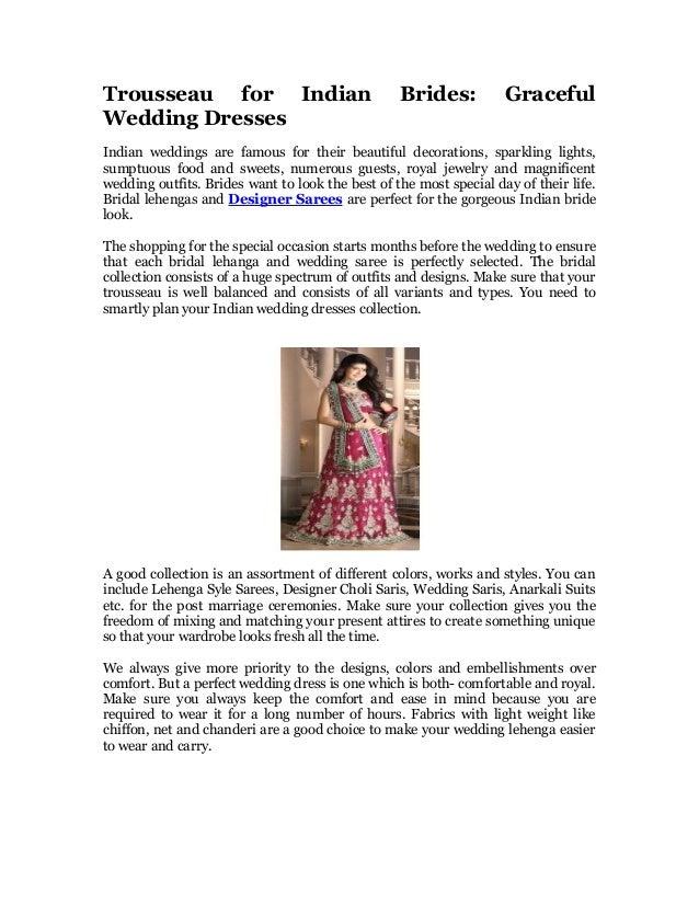 eeded1a03a78d Trousseau for indian brides graceful wedding dresses