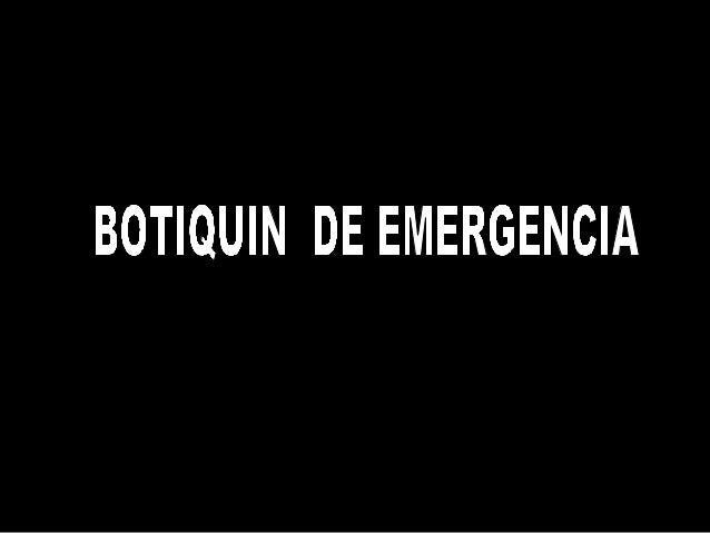 Todos necesitamos un botiquín de emergencia con el siguiente contenido: