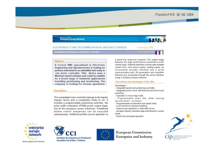 Planète PME 16/06/2009European CommissionEnterprise and Industry