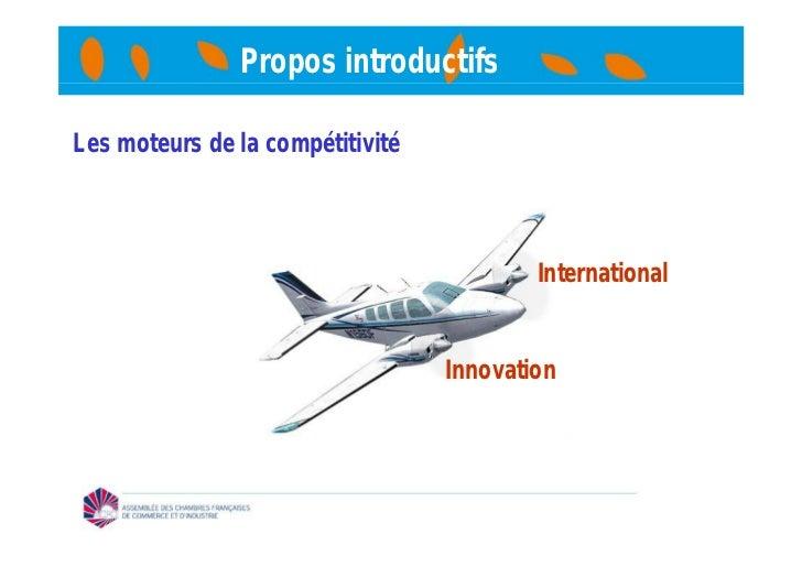 Propos introductifsLes moteurs de la compétitivité                                          International                 ...