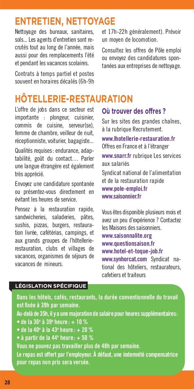 Guide trouver un job 2018 for Cuisinier pole emploi
