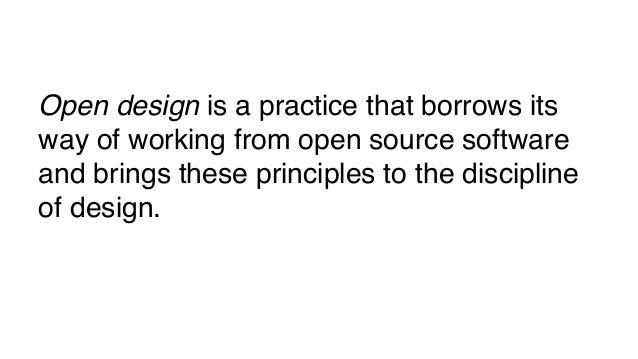 Open Design in a changing design practice Slide 2