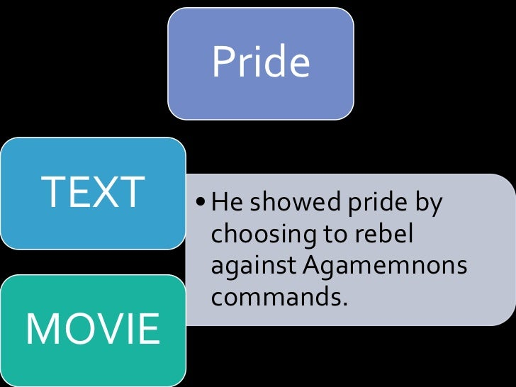 a comparison of achilles and hectors honor and pride in the iliad Both homeric heroes suffer from arrogance and pride  we see the main source for hectors motivation in book 6,  related as and a level classics essays.