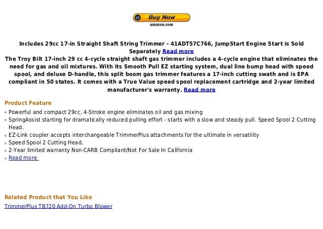 Troy bilt tb575 ec 17 inch 29cc 4 stroke gas powered for Spiffy spools