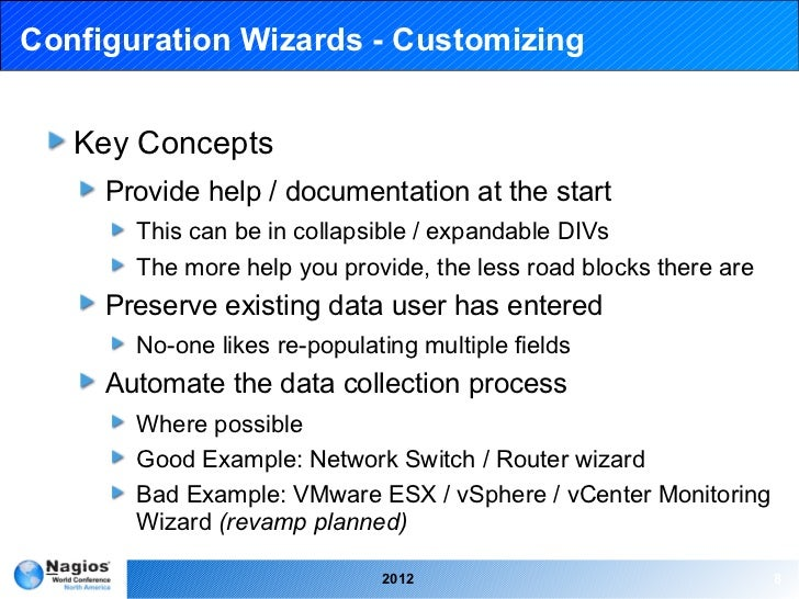 Nagios Conference 2012 - Troy Lea - Custom Wizards, Components and Da…