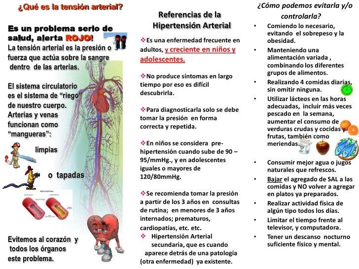 TRIPTICO DE HYPERTENSION ARTERIAL PDF