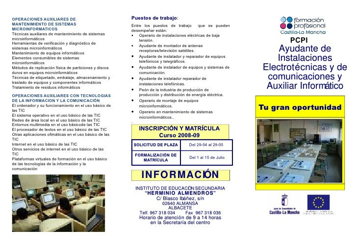 Puestos de trabajo:                                                                    trabajo OPERACIONES AUXILIARES DE M...