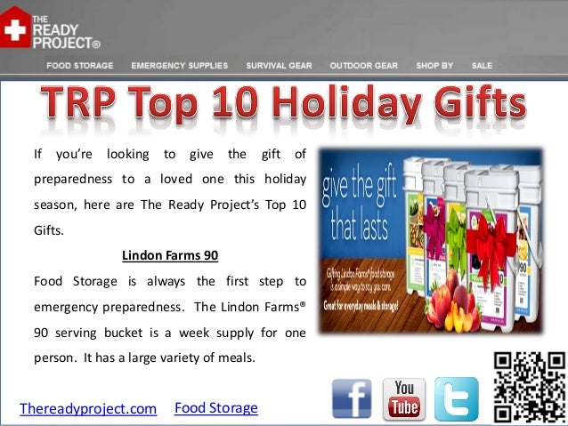 If   you're   looking   to   give   the    gift   of preparedness to a loved one this holiday season, here are The Ready P...