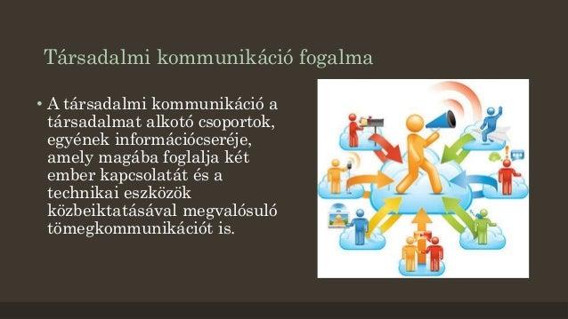Társadalmi kommunikáció fogalma  • A társadalmi kommunikáció a  társadalmat alkotó csoportok,  egyének információcseréje, ...