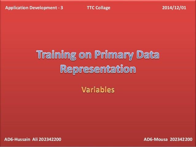 AD6-Hussain Ali 202342200 AD6-Mousa 202342200 Application Development - 3 TTC Collage 2014/12/01