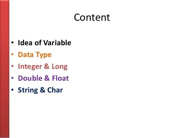 Priamry data type Slide 2