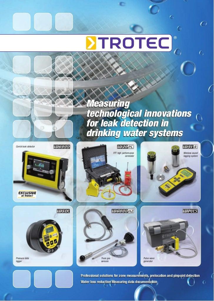 Measuring                         technological innovations                         for leak detection in                 ...