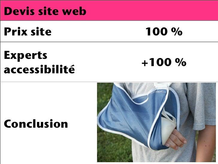 Devis site webPrix site        100%Experts                 +100 %accessibilitéConclusion