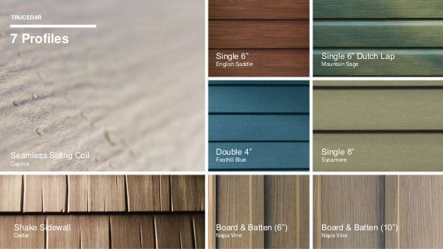 Trucedar Steel Siding Manufactured By Quality Edge 112116