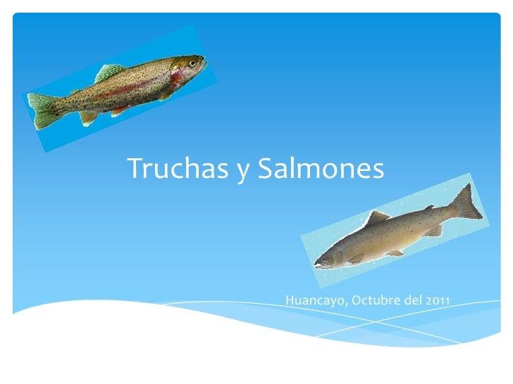 Truchas y Salmones           Huancayo, Octubre del 2011