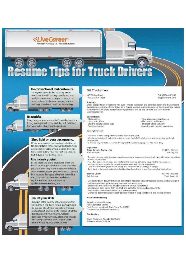 resume tips for truck drivers
