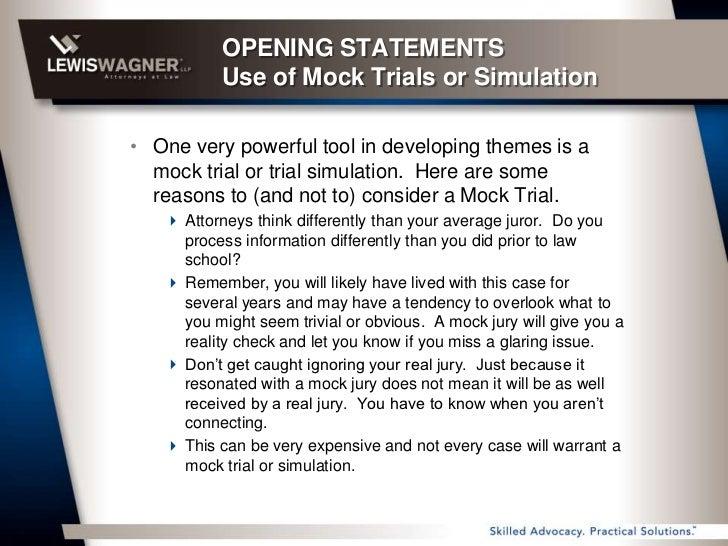 Start opening statement essay