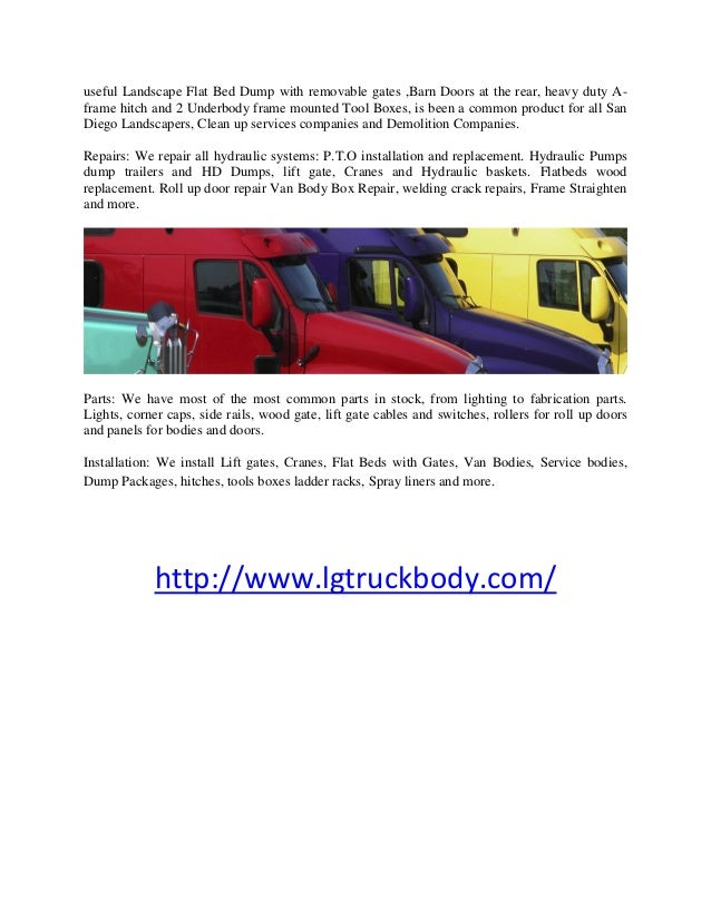 Truck body fabrication lemon grove