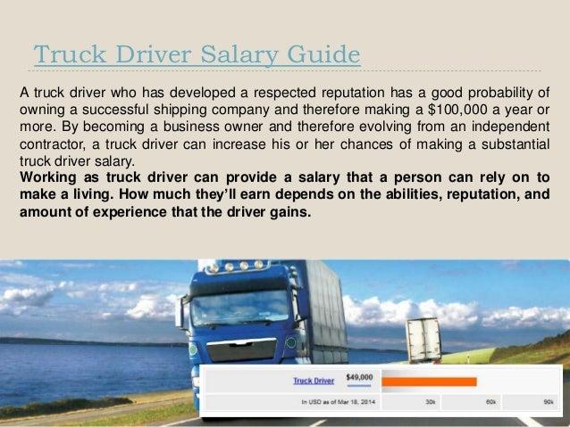 Truck Driver Salary >> Truck Driver Salary