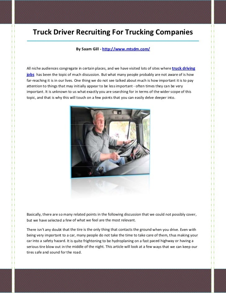 Truck Driver Recruiting For Trucking Companies____________________________________________________________________________...