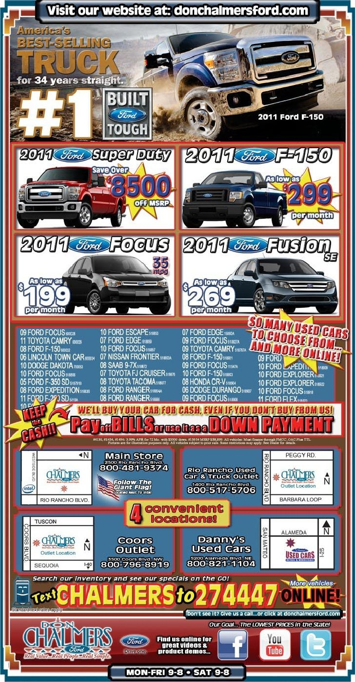 Trucks sales special at don chalmers ford rio rancho nm